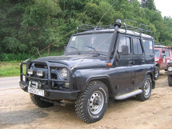 авомобиль: УАЗ  подготовка 'Стандарт' Шина: BFGoodrich  MUD-TERRAIN T/A KM  LT235/85 R16/E