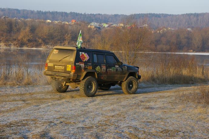 авомобиль: Jeep Cherokee подготовка 'Экстрим' Шина: BFGoodrich  MUD-TERRAIN T/A KM  32x11.50 R15/C Диски:   RC 51