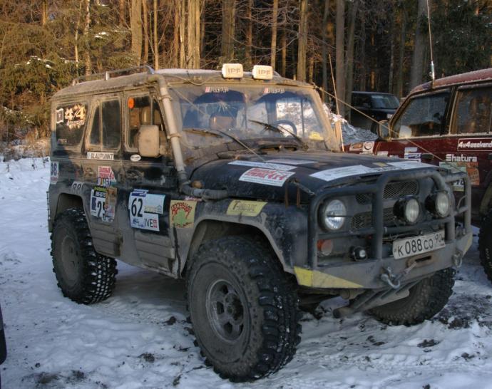авомобиль: УАЗ 469 (3151*) подготовка 'Экстрим' Шина: Simex Extreme Trekker 2 36x12.5-15 Диски:  КРамЗ Гранд 8.00x15 ; 5x139.7 вылет 0