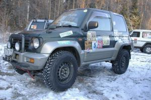 авомобиль: Mitsubishi Pinin/IO (H60) подготовка 'Туризм' Шина: Cordiant OFF-ROAD OS-501 235/75R15 XL