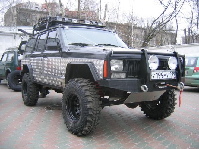 авомобиль: Jeep Cherokee подготовка 'Экстрим' Шина: Silverstone МT-117 XTREME 33x10.50-15LT Диски:   BL