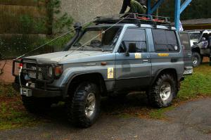 авомобиль: TOYOTA Land Cruiser 70 подготовка 'Туризм' Шина: Super Swamper Bogger 33x12.50-16LT Диски:  КРамЗ Анабар 8.00x16 ; 6x139.7 вылет -15