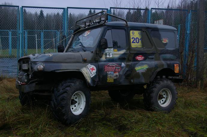 авомобиль: УАЗ 469 (3151*) подготовка 'Экстрим' Шина: ФБел - 160м Диски:  OFF-ROAD Wheels WH