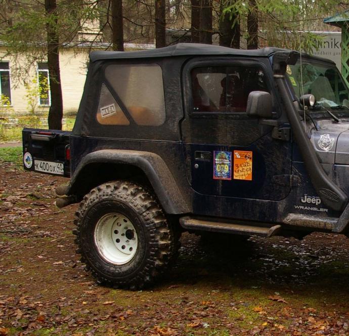авомобиль: Jeep Wrangler подготовка 'Экстрим' Шина: Simex Extreme Trekker 2 36x12.5-15 Диски:  OFF-ROAD Wheels WH 10.00x15 ; 5x114.3 вылет -50