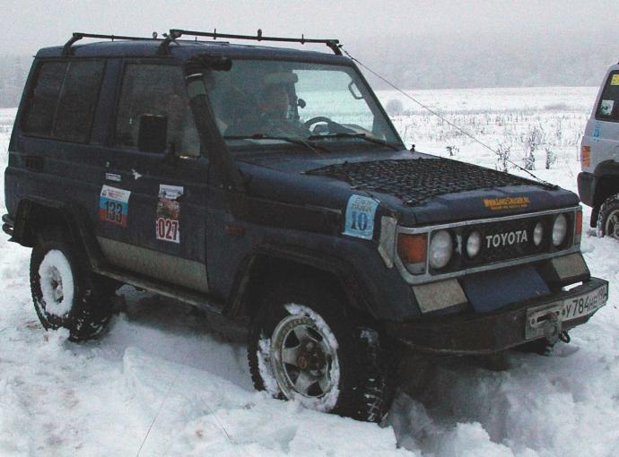 авомобиль: TOYOTA Land Cruiser 70 подготовка 'Стандарт' Шина: Nokian Hakkapeliitta LT 265/75R16D