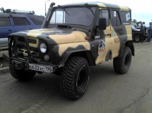 авомобиль: УАЗ 469 (3151*) подготовка 'Туризм' Шина: BFGoodrich  MUD-TERRAIN T/A KM2 35x12,50R15/C Диски:  OFF-ROAD Wheels ORW BL 10.00x15 ; 5x139.7 вылет -44