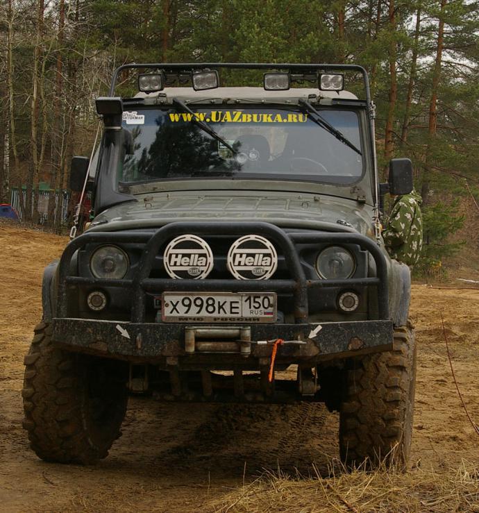 авомобиль: УАЗ 469 (3151*) подготовка 'Экстрим' Шина: Super Swamper TSL 36x12.50-15LT Диски:  OFF-ROAD Wheels BL 8.00x15 ; 5x139.7 вылет -19