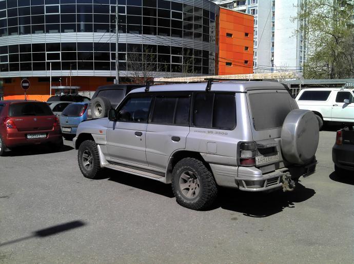 авомобиль: Mitsubishi Pajero II подготовка 'Стандарт' Шина: Wrangler MT/R with Kevlar