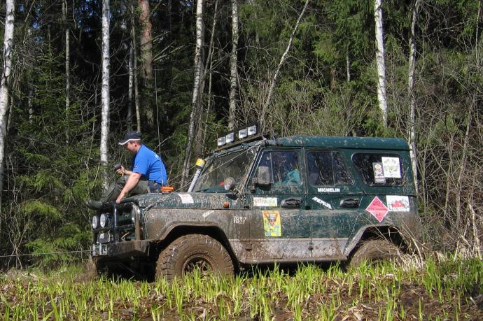авомобиль: УАЗ 469 (3151*) подготовка 'Экстрим' Шина: Goodyear Wrangler MT/R 35X12,50R15LT
