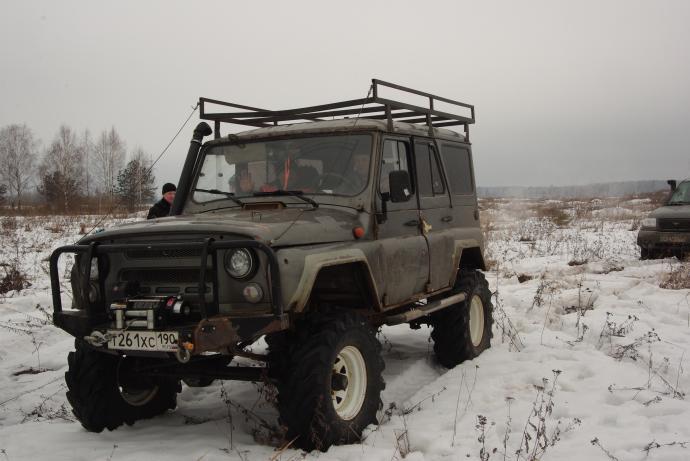 авомобиль: УАЗ 469 (3151*) подготовка 'Экстрим' Шина: ФБел - 160м Диски:  OFF-ROAD Wheels WH Classic
