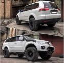 авомобиль: Mitsubishi Pajero Sport II подготовка 'Туризм' Шина: Goodyear Wrangler DuraTrac LT285/75R16 Диски:  PDW M2
