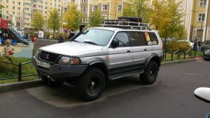 авомобиль: Mitsubishi Pajero Sport Шина: MT-764 Bighorn Диски:  OFF-ROAD Wheels BL