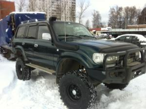 авомобиль: TOYOTA Land Cruiser 80 подготовка 'Туризм' Шина: Super Swamper TSL Q78-16LT Диски:  OFF-ROAD Wheels BL Classic