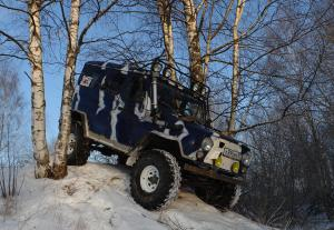 авомобиль: УАЗ 469 (3151*) подготовка 'Экстрим' Шина: Super Swamper TSL Q78-15LT Диски:  OFF-ROAD Wheels WH 7.00x15 ; 5x139.7 вылет -19