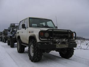 авомобиль: TOYOTA Land Cruiser 70 подготовка 'Экстрим' Шина: Super Swamper Bogger 33x12.50-15LT Диски:  КРамЗ Лидер 8.00x15 ; 6x139.7 вылет -25